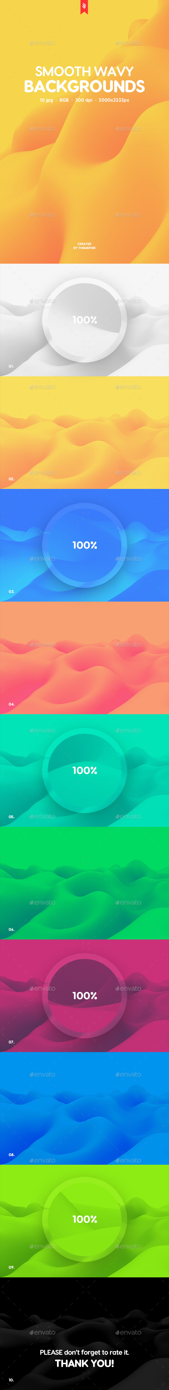 GraphicRiver Smooth Wavy Backgrounds 20343796