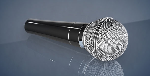3DOcean Element 3D Microphone model 20343909