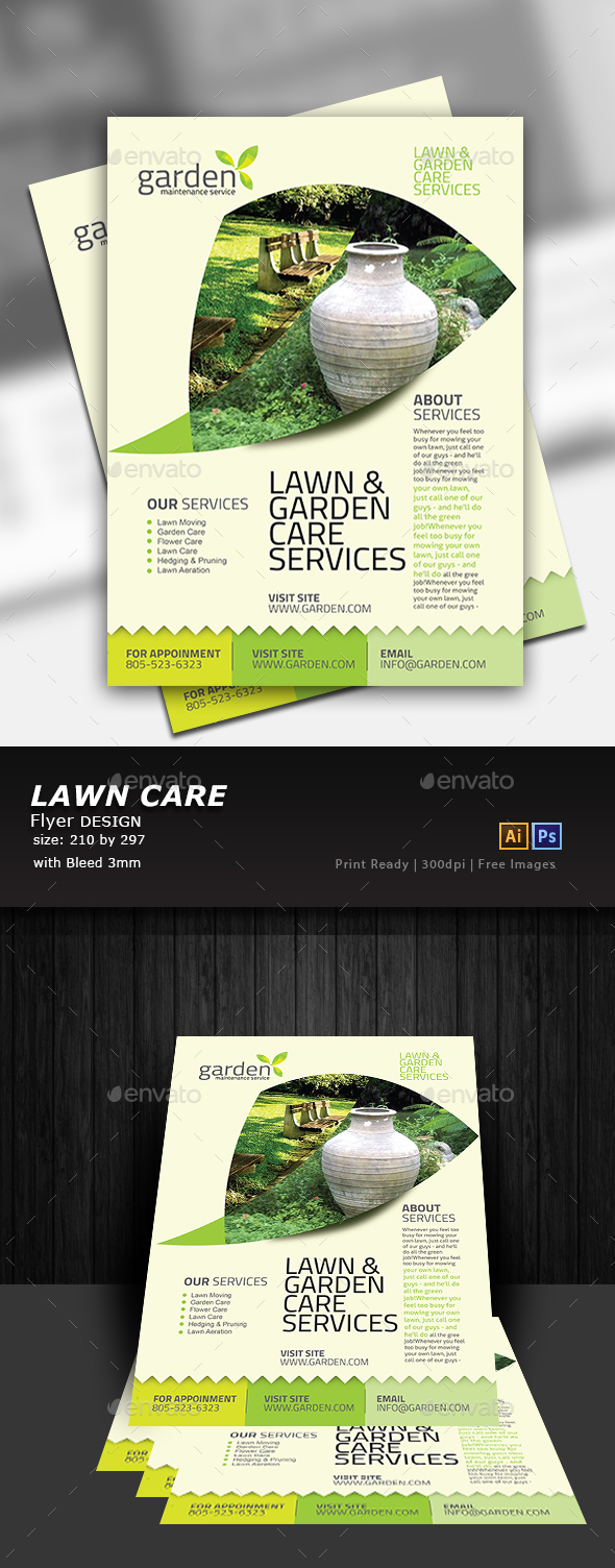 GraphicRiver Garden Flyer 20343927