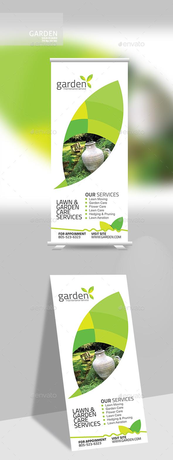 Garden Banner - Signage Print Templates