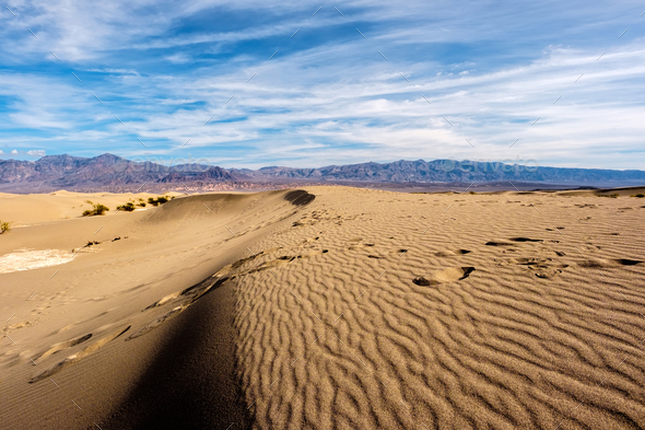 Death Valley National Park, Mesquite dunes - Stock Photo - Images