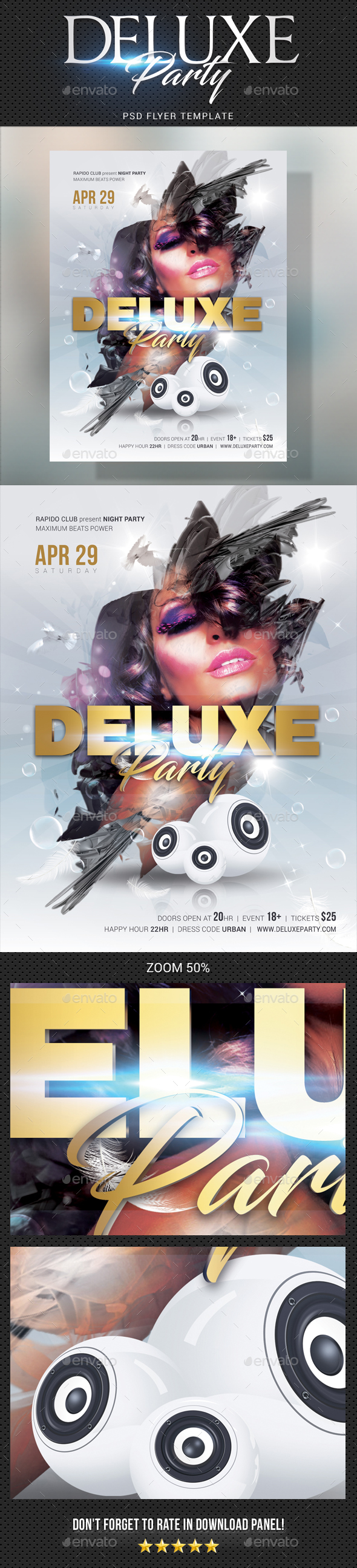 Deluxe Dj Party Flyer 03 - Clubs & Parties Events