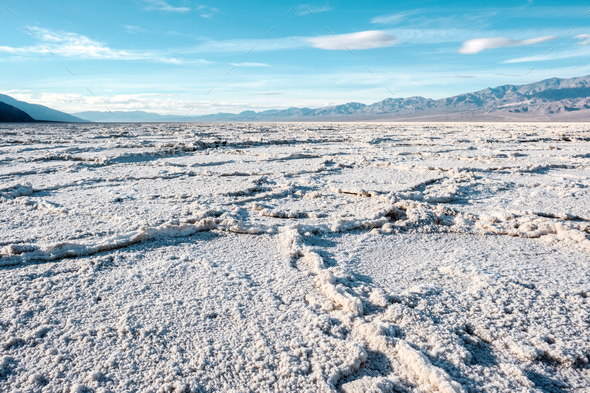 Death Valley National Park - Badwater Basin - Stock Photo - Images