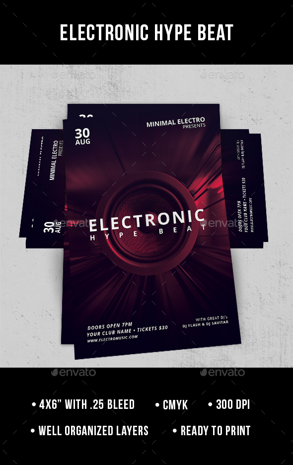 Electronic Hype Beat - Flyer - Clubs & Parties Events
