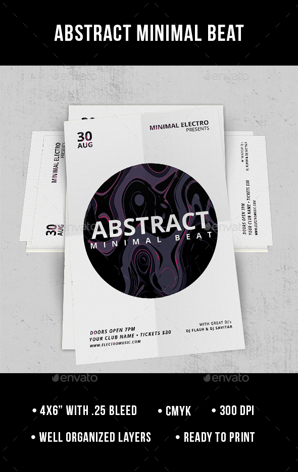 Abstract Minimal Beat - Flyer - Clubs & Parties Events