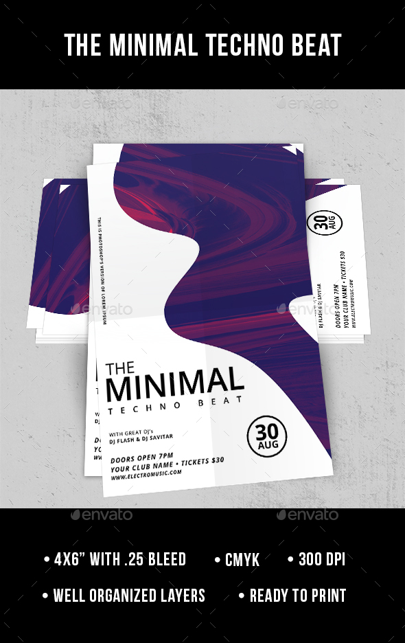 The Minimal Techno Beat - Flyer - Clubs & Parties Events