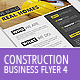 Construction Business Flyer 4 - Letter + A4 - GraphicRiver Item for Sale