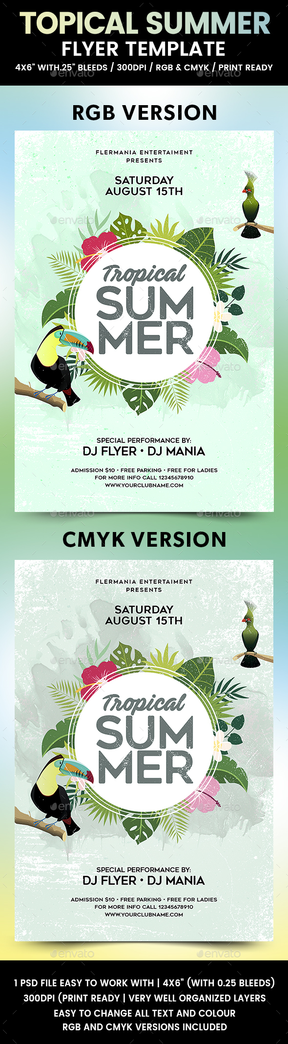 Tropical Summer Flyer Template - Events Flyers
