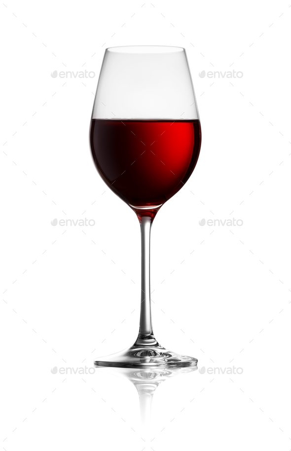 Glass of red wine - Stock Photo - Images