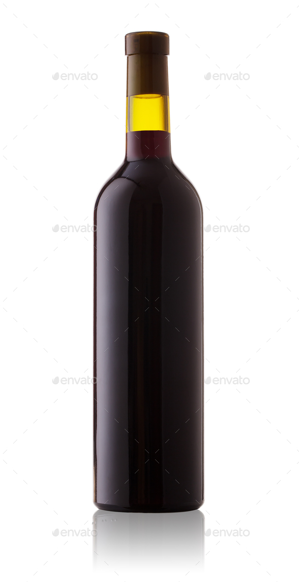 Bottle of red wine - Stock Photo - Images