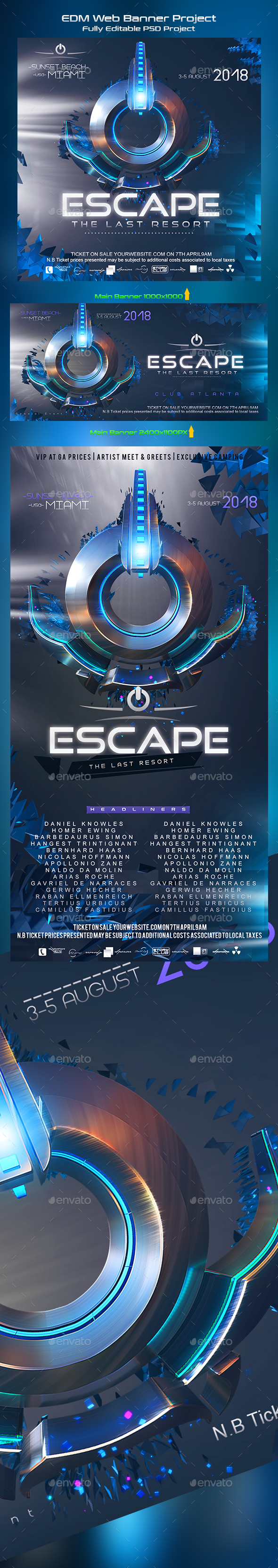 Escape EDM Banner - Miscellaneous Social Media