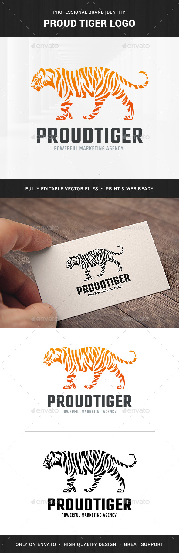 Proud Tiger Logo Template - Animals Logo Templates