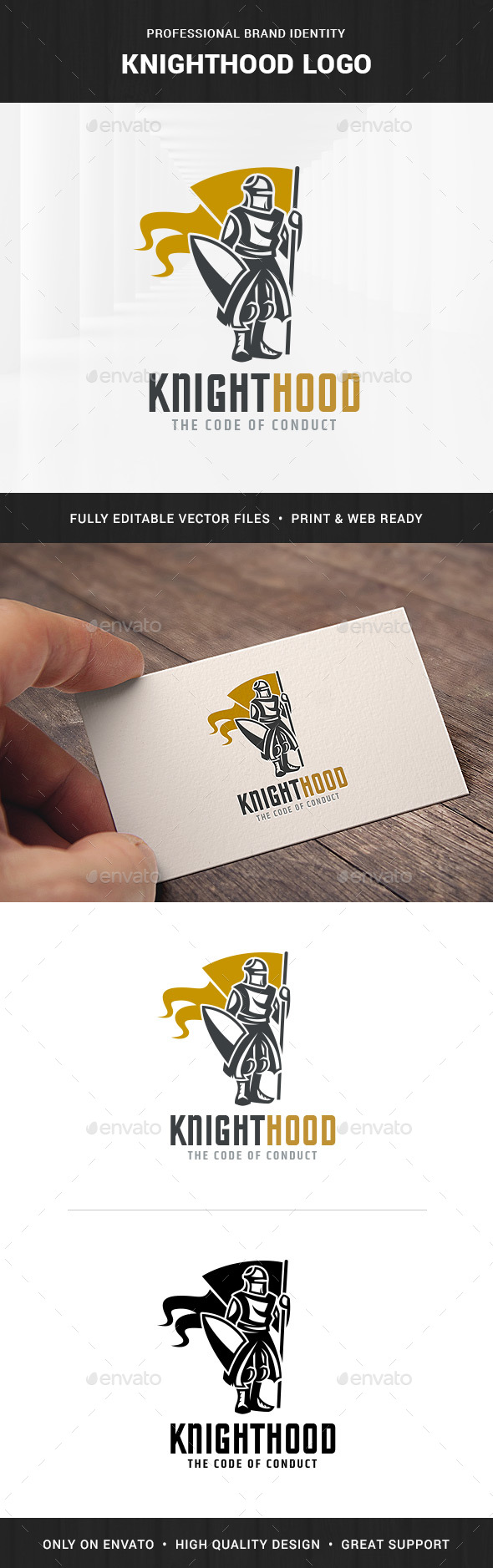 Knighthood Logo Template - Humans Logo Templates