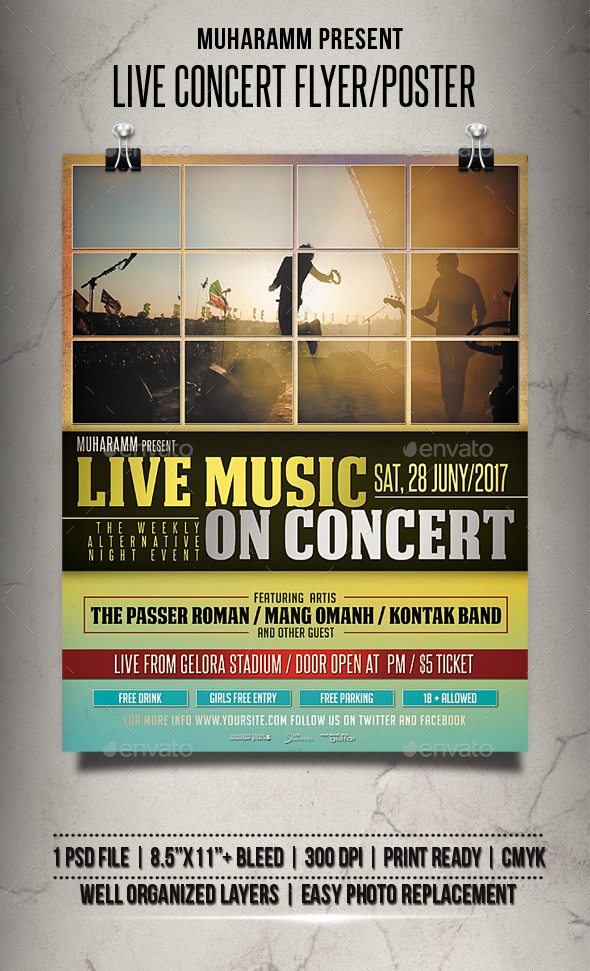 Live Concert Flyer / Poster - Events Flyers