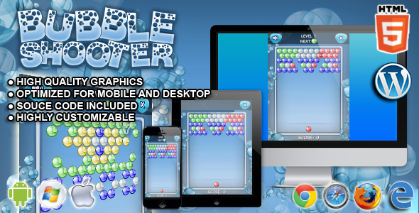Bubble Shooter - HTML5 Games - CodeCanyon Item for Sale