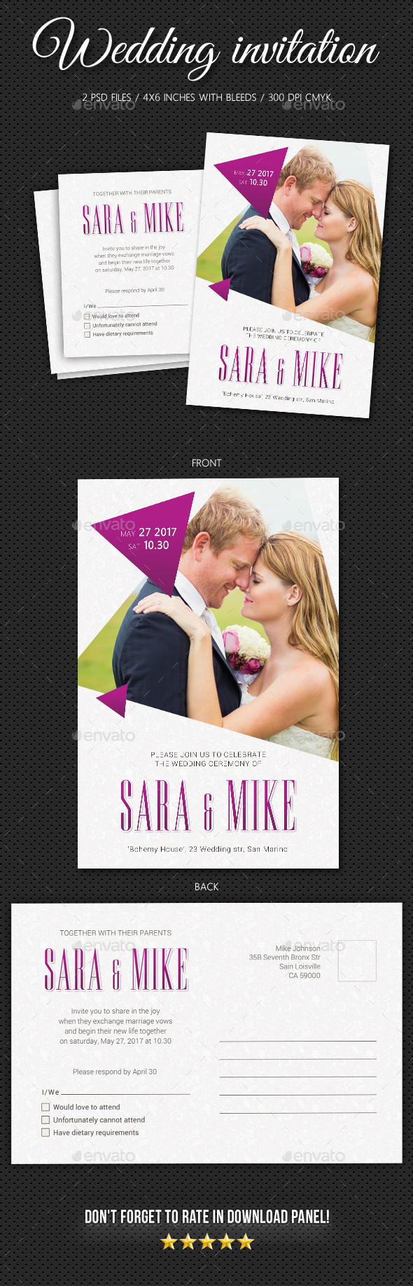 Wedding Invitation V11 - Weddings Cards & Invites
