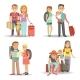 Traveling Family Children Summer Holiday Tourism