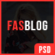 FasBlog - Blog PSD Template - ThemeForest Item for Sale