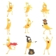 Cartoon Humanized Banana Emoji