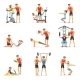 Personal Gym Coach Trainer or Instructor Set