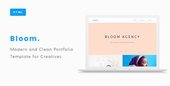 Bloom Portfolio HTML Template - Portfolio Creative