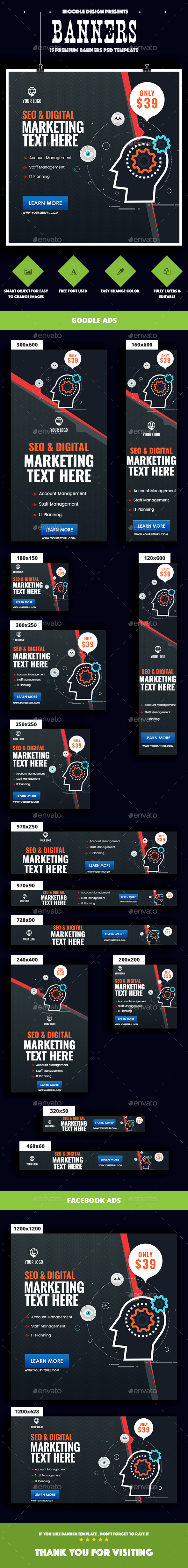GraphicRiver Seo Social Media Digital Marketing Banners Ad 20345619