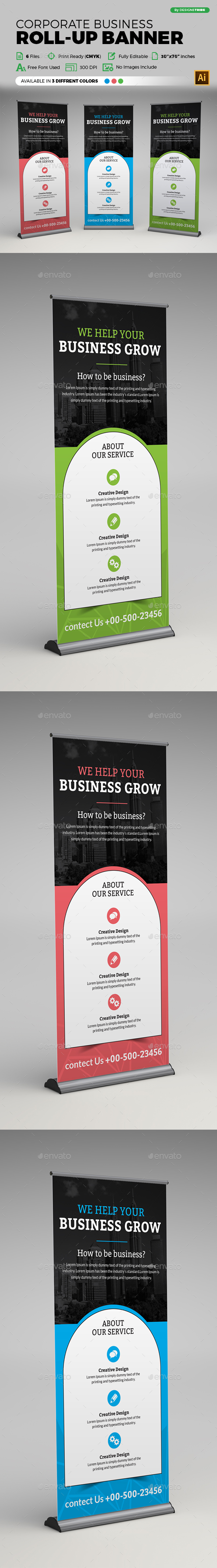 Corporate Business Roll-up Banner - Flyers Print Templates