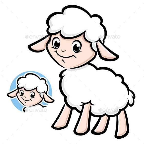 Cartoon Lamb - Animals Characters