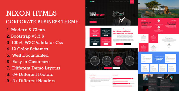 ThemeForest Nixon Responsive Multi-Purpose Corporate HTML Template 20345703