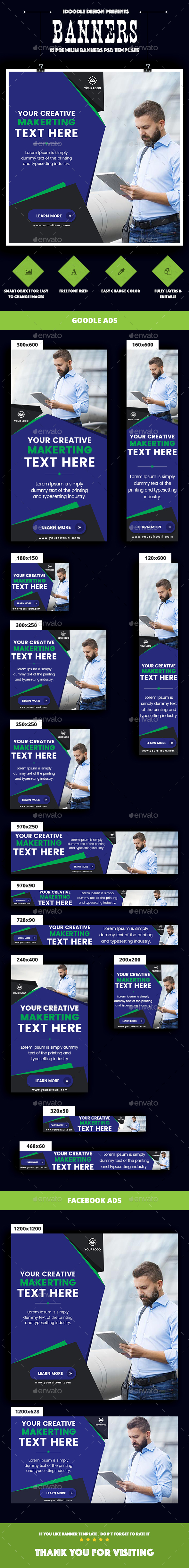 Banner Ads - Multipurpose, Business, Corporate Banners Ad - Banners & Ads Web Elements