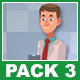 Male Doctor And Female Patient Cartoon Characters Pack 3