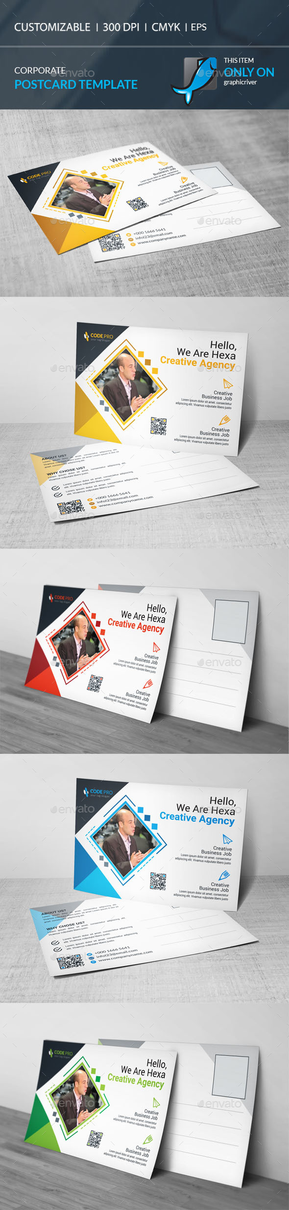 GraphicRiver Postcard Template 20345989