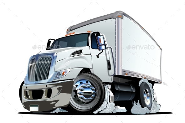 GraphicRiver Cartoon Delivery or Cargo Truck 20346126