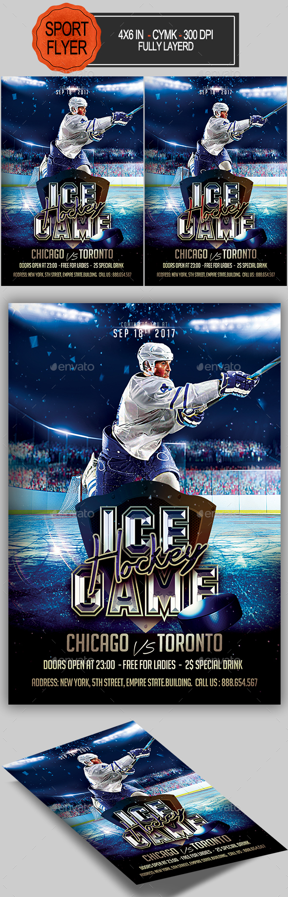Ice Hockey Flyer - Sports Events