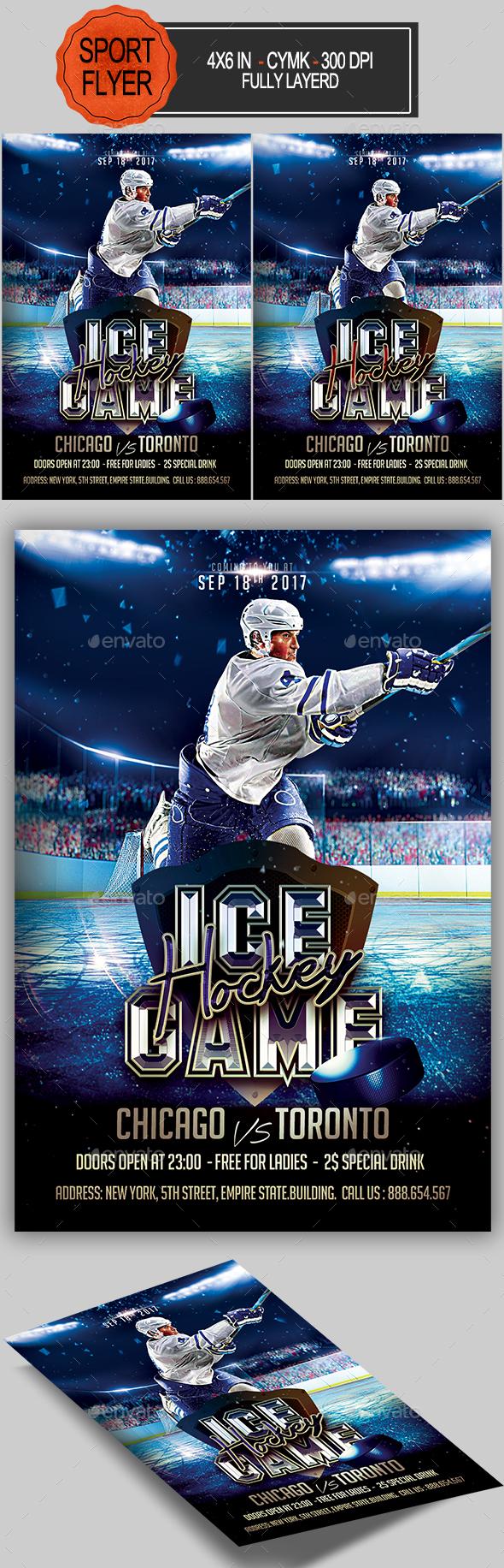 GraphicRiver Ice Hockey Flyer 20346131