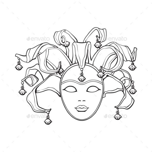 GraphicRiver Decorated Venetian Carnival Jester Mask 20346420