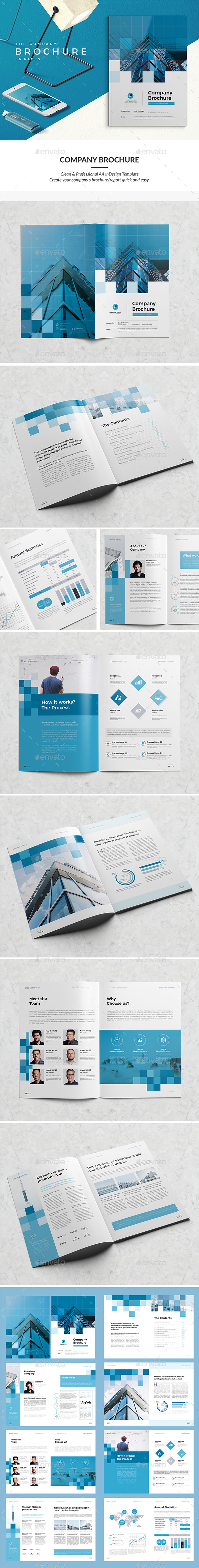 Modern Company Brochure 16 Pages - Corporate Brochures