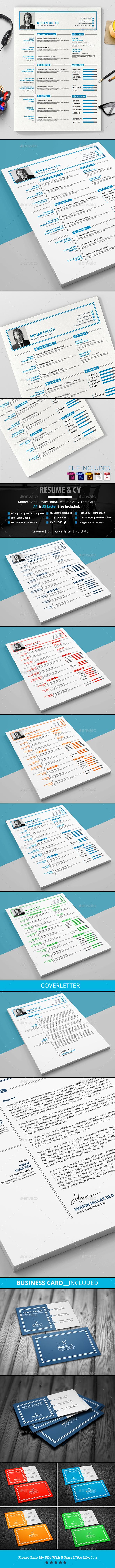 Clean Resume/CV - Resumes Stationery