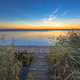 Long Exposure Image of Sunset over Boardwalk on the shore of a L - PhotoDune Item for Sale