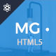 MG – Freelance Portfolio & Resume One Page HTML5 Template