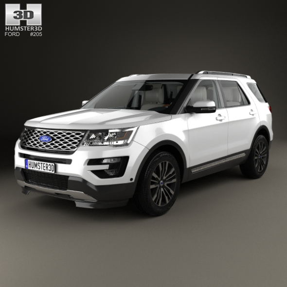 3DOcean Ford Explorer U502 Platinum with HQ interior 2015 20347339