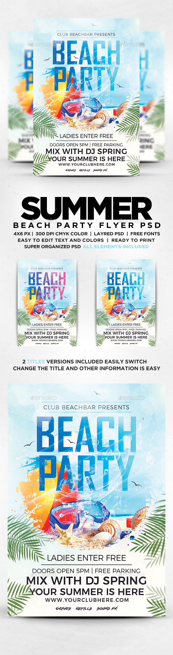 GraphicRiver Summer Beach Party Flyer 20347511