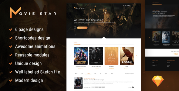 Movie Star - Cinema HTML template - Film & TV Entertainment
