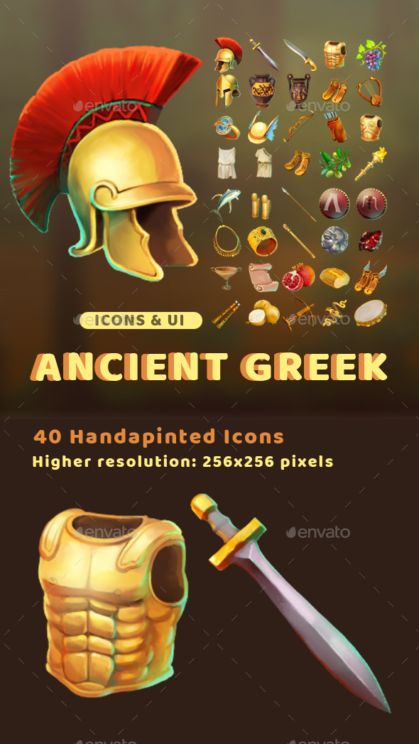 GraphicRiver Ancient Greek Icons 20347676