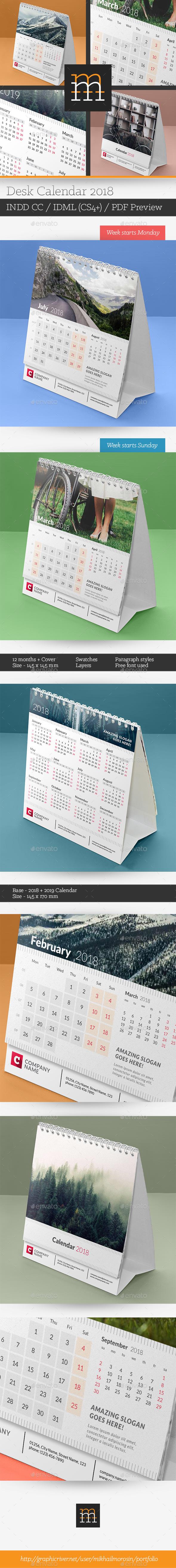 GraphicRiver Desk Calendar 2018 20347700