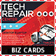 Tech Repair Center Business Cards Template