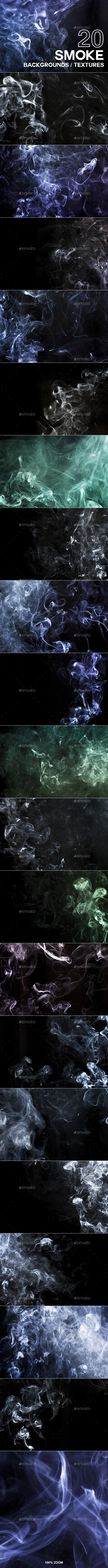 20 Smoke Backgrounds / Textures - Abstract Backgrounds