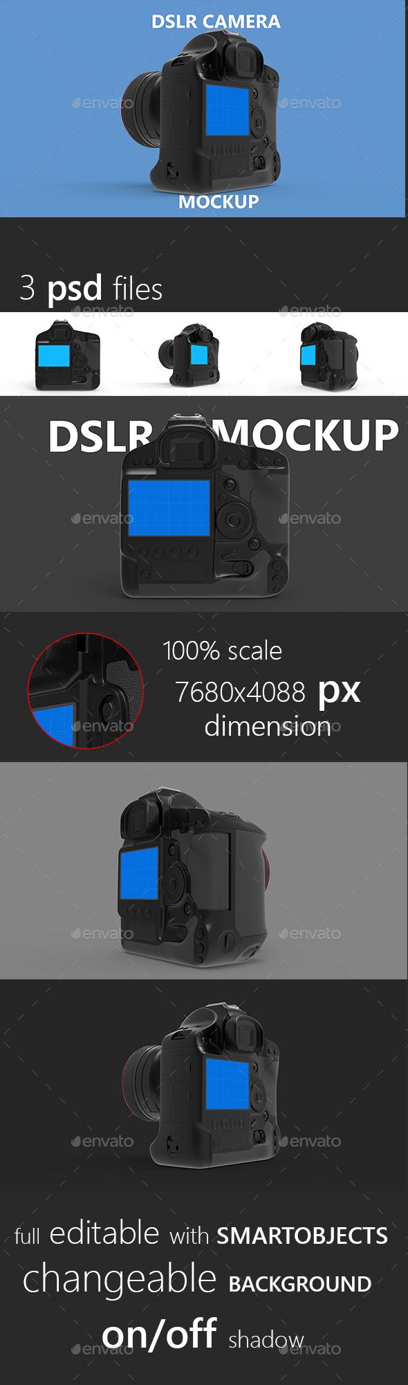 DSLR Camera Mockup - Miscellaneous Displays