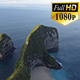 Aerial view of cliff coastline with sunrise in Indonesia - VideoHive Item for Sale