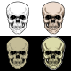 Skull Head With 4 Style Color